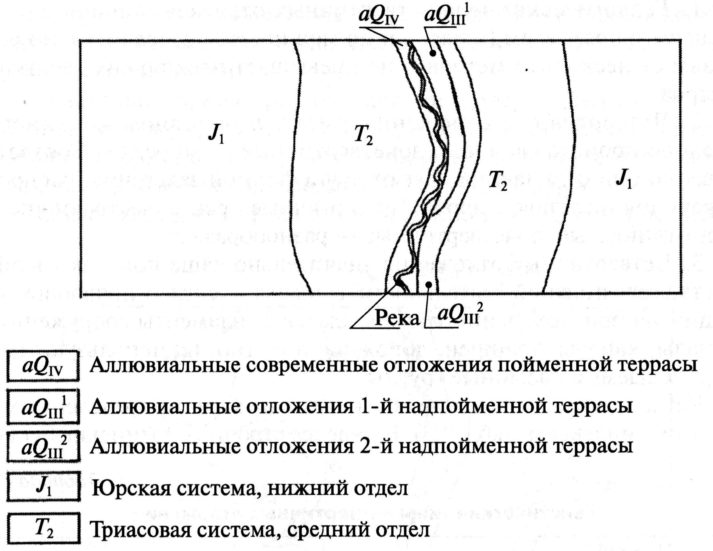 Строение земной поверхности коры показано на карте